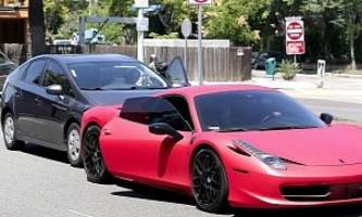 Justin Bieber's Ferrari Gets Rear-Ended by a Paparazzi Prius, Brings Up Princess Diana