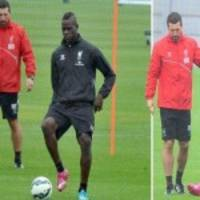 (Gallery) Mario Balotelli In Hilarious Training Session With Liverpool: Bibs, Pranks And More